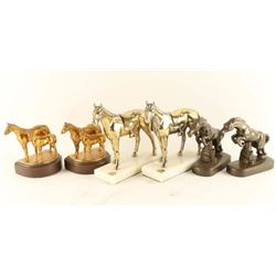 Three Sets of Metal Bookends