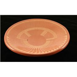 Incised Carved Terra Cotta Plate