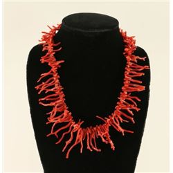 Old Pawn Native American Branch Coral Necklace