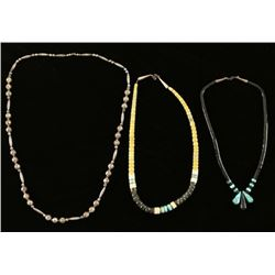 Lot of 3 Native American Necklaces