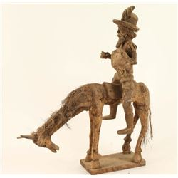 Wood Carving of Don Quixote