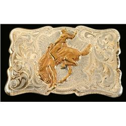 Classic Sterling Silver Marked Belt Buckle