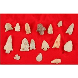 Lot of 16 Stone Points