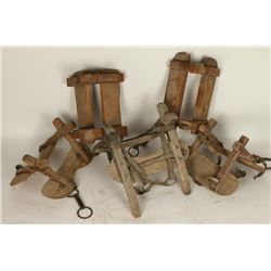 Collection of Wooden Pack Saddles