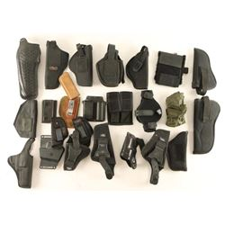 Large Lot of Black Webbing Holsters
