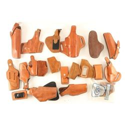 Lot of Brown Leather Holsters