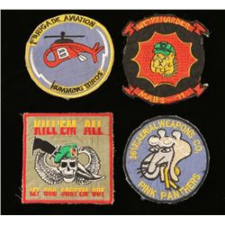 Lot of 4 Vietnam Theater Unit Patches