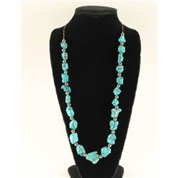 Santo Domingo Style Turquoise Nugget Necklace