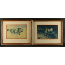 2 Fine Art Prints by Frederic Remington