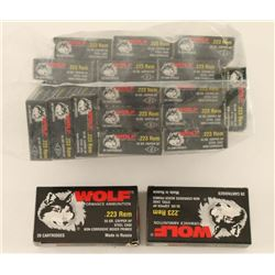 360 Rounds of Wolf .223 Rem Steel Case Ammo