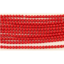 Lot of 10 Bamboo Coral Bead Strands