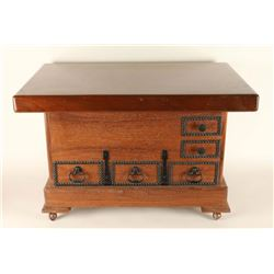 Western Coffee Table on Casters