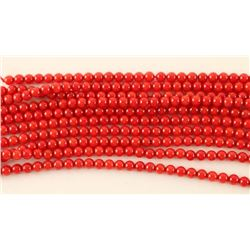 Lot of 10 Strands Bamboo Coral Beads