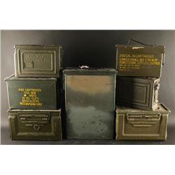 Lot of 7 Empty Ammo Cans