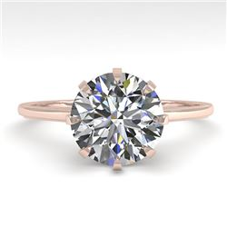 2.03 CTW Certified VS/SI Diamond Engagement Ring 18K Rose Gold - REF-947R4K - 35768