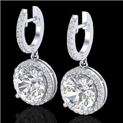 4.50 CTW Micro Pave VS/SI Diamond Certified Designer Halo 18K White Gold - REF-1685T9X - 23181