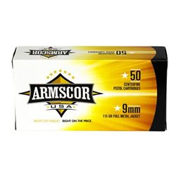 ARMSCOR 9MM 115GR FMJ 1000 Rounds
