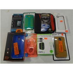 3 Phone Cases, Blue battery sleves, cd/dvd wallet