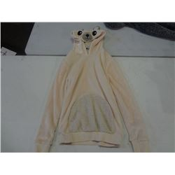 New Size Small White Bear Hoodie