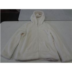 New Size Small White Fuzzy Hoodie