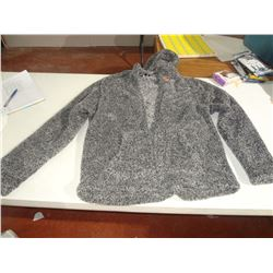 New Size Medium Fuzzy Grey Hoodie