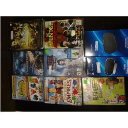 9 Pieces Assorted Games/DvD's
