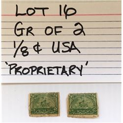 STAMPS, USA, 1/8 CENTS