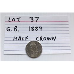 COIN, GB, 1889, HALF CROWN
