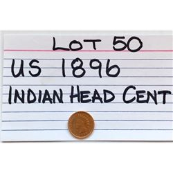 COIN, US, 1896, INDIAN HEAD PENNY