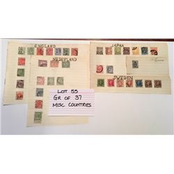 STAMPS, MISC COUNTRIES