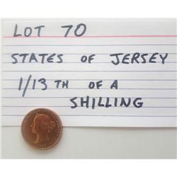 COINS, JERSEY, 1/13TH SHILLING