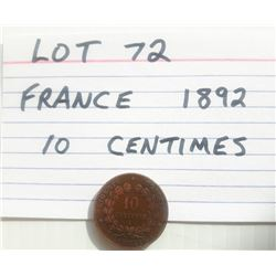 COIN, FRANCE, 10 CENTIMES