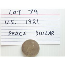 COIN, US, 1921, DOLLAR