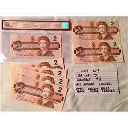PAPER MONEY, CANADA, 2 DOLLARS