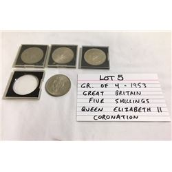 COINS, GB, 5 SHILLINGS