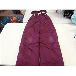 Size Large Purple Ladies Snow Pants