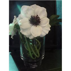 Small Glass Vase with Flowers