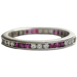 Diamond & Ruby Wedding Band