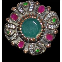 Emerald & Ruby Turkish Statement Ring