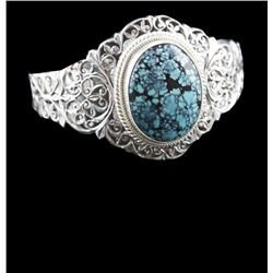 Turquoise & Sterling Silver Cuff Bracelet