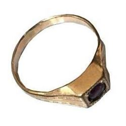 Victorian Copper & Amethyst Ring