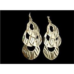 Wild Animal Gold Chandelier Earrings