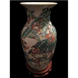 Chinese Enameled Porcelain Royal Vase