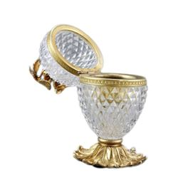 French Cut Crystal Jewel Casket Trinket Box