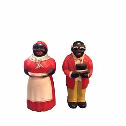 Vintage Aunt Jemima & Uncle Moses Figural Salt & Pepper Shakers