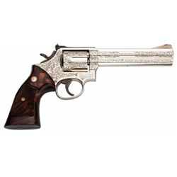 Engraved Smith & Wesson Model 586 Double Action