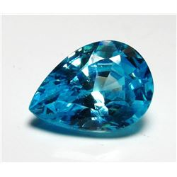 9ct Pear Cut Blue BIANCO Diamond