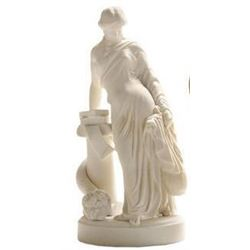 19thc Bisque Parian Goddess Statue