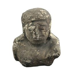 Ancient Artifact Fragment, Bust of Serene Buddha