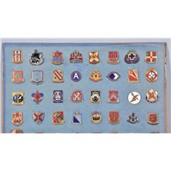78-u.s. Military Unit Enameled Lapel Pins